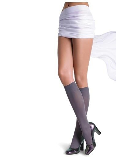 Pierre Cardin Mikrofiber Mat Dizaltı Çorap Gri